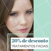 Aproveite! Estamos com 20% de desconto em diversos tratamentos faciais, para sua pele ficar sempre perfeita 😉 #esteticafacial #promocao #desconto #ahazou #estetica