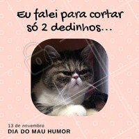 Feliz dia do Mau Humor! #DiaDoMauHumor #Cabeleireiro #SalãoDeBeleza #Ahazou #Beleza #Cabelos #Meme #Humor