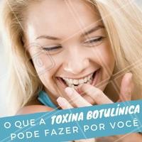 """Conhecida por todo mundo como """"botox"""", esse procedimento vai muito além do tratamento de rugas. Você sabia que a toxina botulínica pode prevenir o envelhecimento da pele,  levantar as sobrancelhas e destacar o olhar, além de deixar os lábios mais definidos e cheios? 😉 Conheça mais sobre esse procedimento e seus benefícios agendando seu horário ☎️ #botox #esteticafacial #ahazou #toxinabotulinica"""