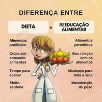 Diferença de Dieta X Reeducação Alimentar. O segredo está no EQUILÍBRIO. #nutrição #alimentosaudável #ahazou #saude #beleza #bemestar #autoestima #dieta #reeducaçãoalimentar