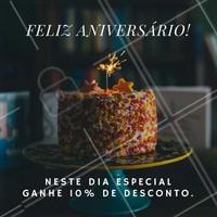 Aproveite seu desconto especial, no dia do seu Aniversário! #Aniversário #Cabelo #DesignDeSobrancelha #Maquiagem #Salão #Manicure #Promoção #Ahazou