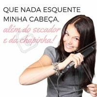 Se for pra esquentar a cabeça, que seja no salão de beleza! Pelo menos o cabelo vai sair maravilhoso não é mesmo?! 😜 #amo #salão #ahazou #cabelo #cabelolindo #cabeçaquente #beleza #salãodebeleza
