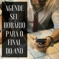 Não deixe para a última hora!    #FimDeAno #AgendamentoAntecipado #AgendaFimDeAno #AgendamentoDeHorário #Salão #Barbearia #Ahazou