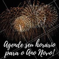 Agende antecipadamente seu horário para o Ano Novo!   #FimDeAno #AgendamentoAntecipado #AgendaFimDeAno #AnoNovo #Réveillon #Salão #Manicure #Maquiagem #Cabelo #DesignDeSobrancelha #EstéticaCorporal #EstéticaFacial #Ahazou