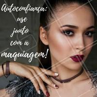 Maquiagem é a arte de deixar a vida mais alegre!  #FraseMotivacional #Maquiagem #Salão #Beleza #Ahazou