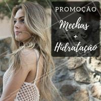 Aproveite nossa promoção!   #Mechas #Cabelo #Salão #Beleza #Promoção #Ahazou