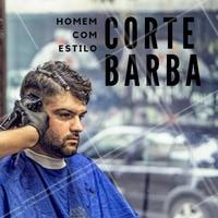 Venha agendar seu corte de cabelo + barba por um preço bem especial. #barbearia #barba #ahazou #cortedecabelo #cortemasculino #barbeiro #beleza #autoestima