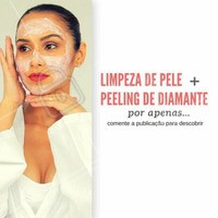 Limpeza de pele + peeling de diamante por apenas... Deixe um comentário para descobrir ;)  #EstéticaFacial #TratamentoFacial #Ahazou #Beleza #LimpezaDePele #Estetica #Esteticista #Autoestima