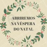 Estaremos funcionando na véspera do Natal dia 24/12. Agende agora o seu horário. #natal #beleza #autoestima #ahazou