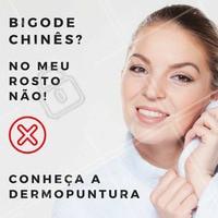 """A Dermopuntura é um técnica super eficiente no tratamento do famoso """"bigode chinês"""".  Com essa técnica, é possível conseguir um resultado natural e eficiente para renovar sua pele! Quer conhecer? Agende já seu horário! ☎️ #dermopuntura #rugas #bigodechines #ahazou #rejuvenescimento"""