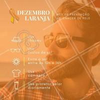 """DEZEMBRO LARANJA A campanha """"Dezembro Laranja"""" tem como objetivo alertar para os perigos de se expor ao sol sem controle. A exposição ao sol de forma inadequada pode trazer inúmeros prejuízos à saúde, além de ser responsável pelo câncer de maior incidência no Brasil, o câncer da pele. Nós apoiamos essa causa. #dezembrolaranja #barbearia #barba #homemsaudavel #saude #protetorsolar #ahazou #beleza #cancerdepele #prevencao #dezembro #bemestar #autoestima #amorproprio"""