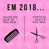 Se prepare pra 2018! Desapegue daquele cabelo que você usou por anos e venha aproveitar uma mudança! 💇 #cabelo #ahazou #salaodebeleza #corte