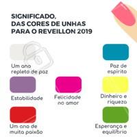 Qual cor de esmalte você vai passar a virada do ano? Saiba aqui o significado de cada uma ! #Esmalte #Unhas #Manicure #UnhaDecorada #Ahazou #Beleza #AnoNovo #Reveillon #Cores #Esmaltação #Autoestima
