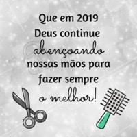 Vamos continuar transformando vidas com nossas mãos! Amém 🙏 #anonovo #reveillon #ahazou #beleza #cabeleireiro