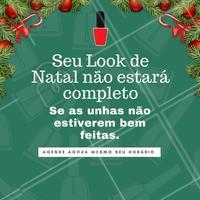 Já agendou a sua manicure para  completar o seu look de Natal? Então corre! #manicure #unha #esmalte #ahazou #esmaltação #automestima #beleza #unhadodia #natal