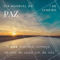 Você sabia que hoje é o Dia Mundial da Paz? 💗  Desejo que seu 2019 seja repleto de paz e muito amor! #paz #diamundialdapaz #anonovo #ahazou #reveillon