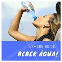 Beber água é sempre importante, mas em dias quentes a água é nossa melhor aliada! 💦 O ideal é beber cerca de 2 litros diariamente para repor os líquidos perdidos. #agua #verao #ahazou #saude