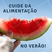 Alimente-se de frutas, verduras, sucos, vegetais e muita água nesse verão para que você possa se sentir bem! 🍎 #verao #ahazou #alimentacao #detox #comerbem