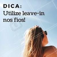 """O leave-in é um produto essencial para o cuidados dos fios, pois forma uma película protetora no fio que vai proteger seu cabelo de todos os """"vilões"""" do verão: calor, sol, mar, piscina e etc. 😊 #verao #calor #leavein #mar #ahazou"""
