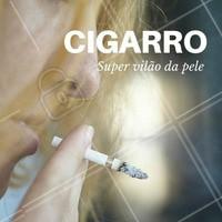 """Que o cigarro faz mal para a saúde, todo mundo sabe. Mas e os malefícios pra pele? Além do envelhecimento precoce, fumar pode também causar rugas, manchas, opacidade e até alterações de cor. O rosto do fumante costuma ficar com vincos, ruguinhas ao redor da boca (o famoso """"código de barras""""), lábios arroxeados, além da pele acinzentada e sem brilho.  Ao fumar um único cigarro, a redução do oxigênio na pele diminui por cerca de uma hora. Um fumante de um maço diário permanece em hipóxia [baixo nível de oxigênio] cutânea na maioria das horas do dia.   #pelesaudavel #cigarro #tratamentofacial #esteticafacial #ahazou #beleza #autoestima #saude #bemestar"""