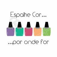 Vamos deixar o mundo mais colorido, que tal começar pelas suas mãos? Venha agendar o seu horário!  #manicure #amor #ahazou #beleza #autoestima #esmalte #unhasdediva #amoesmalte