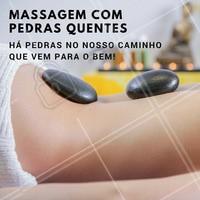 A massagem com pedras combate o stress, faz você relaxar profundamente e relaxa seu corpo e músculos! Agende já seu horário e venha cuidar de você ☎️ #massagem #massagemcompedras #ahazou #massagemrelaxante