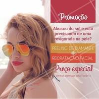 Insira aqui os detalhes da sua promoção #PeelingDeDiamante #HidrataçãoFacial #TratamentoFacial #Ahazou #Beleza #Estetica #PeleSaudavel #BemEstar #Verão #Sol