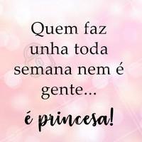 Cadê as princesinhas? 😂👸💅 #unha #manicure #ahazou #esmalteria