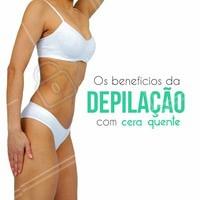 Por que fazer depilação com cera quente?  Os benéficos da depilação são vários! O primeiro de todos é a praticidade. Como o crescimento dos pelos é mais demorado quando removidos com cera, você pode esquecer da depilação por algumas semanas e ficar tranquila.  Outro benefício é a rapidez do procedimento!   Quer saber mais sobre a depilação com cera ? Agende seu horário 🗓 #tratamentocorporal #ceraquente #depilacaocomcera #depilação #ahazou #autoestima #beleza #depiladora #bemestar