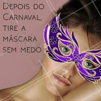 Conheça nossos tratamentos faciais e dê adeus pras máscaras! 👋🎉 #carnaval #esteticafacial #ahazou
