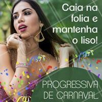 Carnaval é pra se jogar mesmo, sem se preocupar com nada! Aproveite nossa progressiva de carnaval e curta a folia mantendo o cabelão liso 🎊💃🎉 #carnaval #progressiva #ahazou #cabelocarnaval