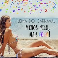 Aproveite sua folia sem pelos, agende o horário da sua depilação! 🎉 #depilacao #ahazou #carnaval