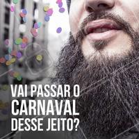 Não passe vergonha no Carnaval, agende o horário para fazer sua barba! #carnaval #barbearia #barba #ahazou #estilomasculino #autoestima #beleza