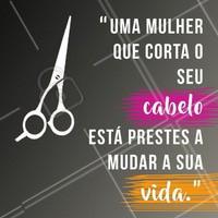 Venha fazer a mudança que você tanto quer! Agende já seu horário ☎️💇 #cabelo #corte #ahazou #cabeleireiro #salaodebeleza