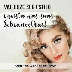 Sobrancelha é tudo! 😉 #designdesobrancelha #ahazou #sobrancelha