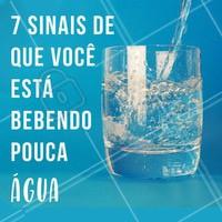 Já parou pra pensar que você pode estar desidratada e nem sabe? 😱 Olha só os sinais: 1 - Dor de cabeça, 2 - Prisão de ventre, 3 - Pele seca, 4 - Imunidade baixa, 5 - Cansaço e mau humor, 6 - Fome excessiva, 7  - Metabolismo lento. E aí? Quantos desses sinais você tem? Não esqueça de beber água! 💧 #hidratacao #beberagua #ahazou #agua #saude #bemestar