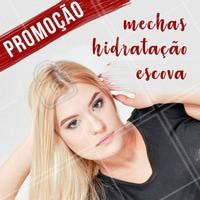 Aproveite essa promoção especial de mechas, hidratação e escova! Venha ficar maravilhosa 💇 #promocao #ahazou #cabelo #salaodebeleza
