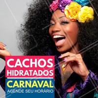 Deixe seus cachos hidratados para pular bem a vontade nesse #Carnaval! Agende agora mesmo o seu horário! #SalãoDeBeleza #CabelosCacheados #Ahazou #Hidratação #Cachos #AfroHair #Autoestima #Divas