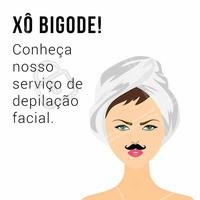 Dê adeus pro bigode! Agende seu horário e venha conhecer nossa depilação facial 📞 #depilacaofacial #ahazou #esteticafacial