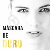 A máscara de ouro se tornou febre entre as famosas, por ter vários benefícios como:  - Redução dos efeitos do tempo - Reposição de vitaminas e minerais - Antioxidante - Estimula colágeno e elastina A máscara é mais indicada para peles mais maduras, sem viço, com poros dilatados e oleosidade excessiva. Venha conhecer e dê esse luxo para o seu rosto! 💆 #mascaradeouro #limpezadepele #ahazou #esteticafacial