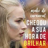 Vem agendar o horário da sua make  e brilhar muito nesse Carnaval! 🎉 💄 #makecarnaval #ahazou #carnaval2018 #maquiagem