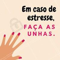 Qualquer estresse passa quando as unhas estão lindas! 💅😍 #unha #manicure #ahazou