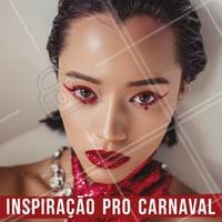 Que tal essa inspiração pra arrasar no Carnaval?  🎉 #maquiagem #makedecarnaval #ahazou