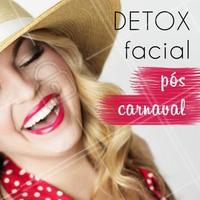 Precisando de um detox depois de tanto Carnaval? Agende seu horário, conheça nossos tratamentos faciais que vão renovar sua pele! 💆 #pele #ahazou #esteticafacial #cuidadoscomapele #carnaval