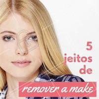 Sim, existe mais de um jeito de remover a maquiagem! Você pode usar: 1 - Água micelar, serve para todos os tipos de pele e equilibra o rosto com função de limpeza e hidratação. 2 - Água micelar bifásica, que remove a make mais pesada, por causa do óleo. 3 -  Demaquilante comum, que pode ser usado por todos os tipos de pele. 4 - Demaquilante bifásico, que derrete a maquiagem mais pesada. 5 - Lenços de limpeza, uma ótima opção para a correria do dia a dia, mas não é a melhor opção por não conseguir remover 100% a maquiagem da pele. Tá vendo? Não tem desculpa pra não tirar a make antes de dormir, hein? 😜 #maquiagem #ahazou #demaquilante #cuidadoscomapele