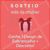 Sim, vamos sortear um Design de Sobrancelha + Desconto no serviço que você escolher! 😍 Para participar do sorteio, é só comentar aqui 👇 e torcer! #MesDaMulher #Ahazou #DesignDeSobrancelha