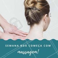 Vem começar a semana bem! 💆 #massagem #ahazou #esteticacorporal
