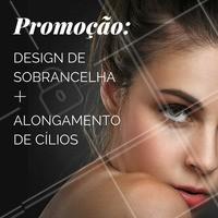 Venha destacar seu olhar com essa promoção! Aproveite 👯 #promocao #ahazou #desconto #designdesobrancelha #alongamentodecilios #sobrancelha #cilios