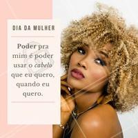 O que é poder pra você? Vem se sentir poderosa aqui! 💃 #DiaDaMulher #ahazou #cabelo #cacheadas