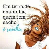 Cadê as rainhas cacheadas? 👸 #cacheada #ahazou #cabelo #salaodebeleza #cabeleireiro
